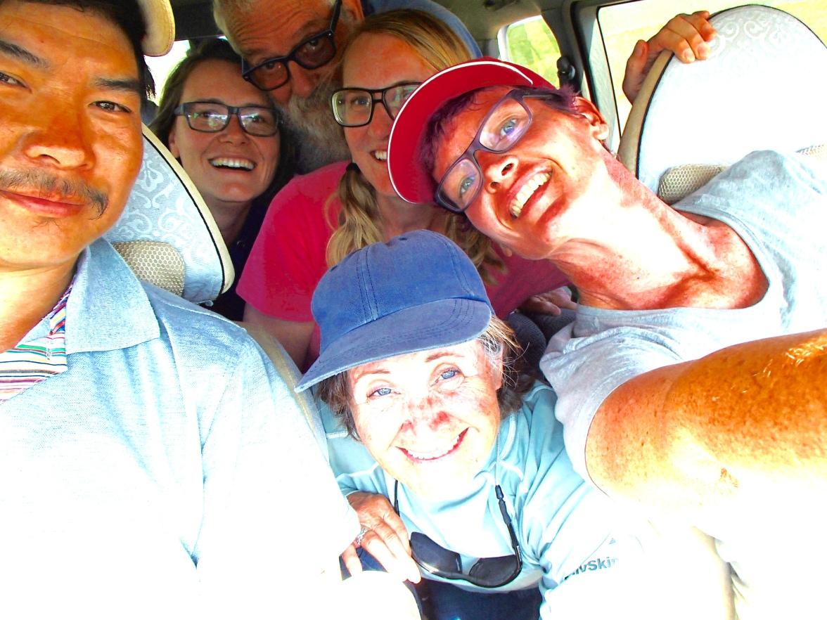 our van selfie